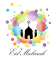 colorful eid card vector image vector image