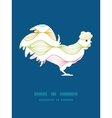 colorful horizontal ogee rooster silhouette vector image vector image