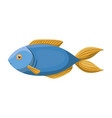 colorful silhouette of blue trout fish vector image