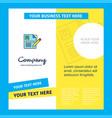 cv company brochure template busienss template vector image vector image