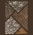 decor from pieces of colored lace decorative vector image vector image