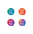 emloyee year label tag bubble set vector image vector image