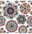 Ethnic pattern in pastel color with stylized vector image vector image
