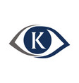 eye care solutions letter k vector image vector image