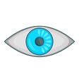 Eye icon cartoon style vector image