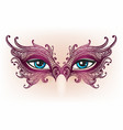 female eyes in lace mask vector image vector image