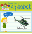 Flashcard letter H is for helicopter vector image vector image