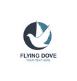 flying dove icon vector image vector image