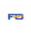 FO initial company logo vector image vector image