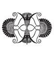 greek vase palmettes motif design is a antique vector image vector image