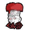 halloween fear heads vector image vector image