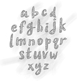 Hand drawn abc small letters vector image vector image
