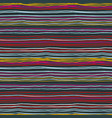 hand drawn striped seamless pattern vector image vector image