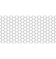 hexagon seamless pattern honeycomb background vector image vector image