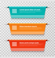 infographic banners color labels isolated vector image vector image