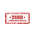 jahresruckblick 2018 review of the year stamp on vector image vector image
