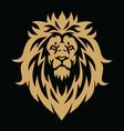 lion head gold golden esport logo mascot vector image vector image