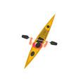 man rafting in kayak kayaking water sport vector image