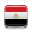 Metal icon of Egypt vector image