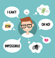 modern communication concept unhappy nerd vector image