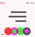 modern hamburger menu icon for mobile apps and vector image