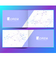 modern template for horizontal brochure vector image