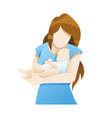 mother with newborn baby vector image