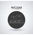 Nuclear design danger and industry concept vector image