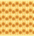 pattern with waves of flowers vector image vector image