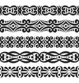 set of black seamless borders vector image vector image