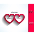 Set of valentines infinite love signs made vector image vector image