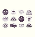 set pizzeria and bakery emblems vector image