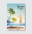 sexy woman relax sunny beach booty bare summer vector image vector image