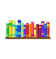 shelf with colorful books vector image