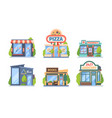 shops and stores set commercial color retail vector image vector image
