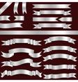 silver ribbons vector image