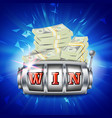 slot machine banner one-armed bandit vector image vector image