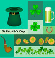 st patricks set of vector image