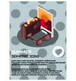 summer isometric poster vector image vector image