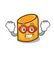 super hero rigatoni character cartoon style vector image vector image