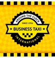Taxi symbol with checkered background - 03 vector image vector image