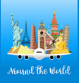 travel poster explore world vector image