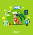 tropical cruise travel composition vector image