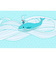 Whale on water vector image vector image