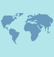 world map geography lesson flat style cartoon vector image
