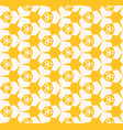 yellow grid geometric abstract colorful pattern vector image vector image