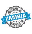 zambia round ribbon seal vector image vector image