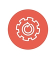 Gear wheel with arrow thin line icon vector image