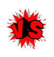 vs letters competition icon vector image