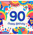 90 ninety year birthday party greeting card